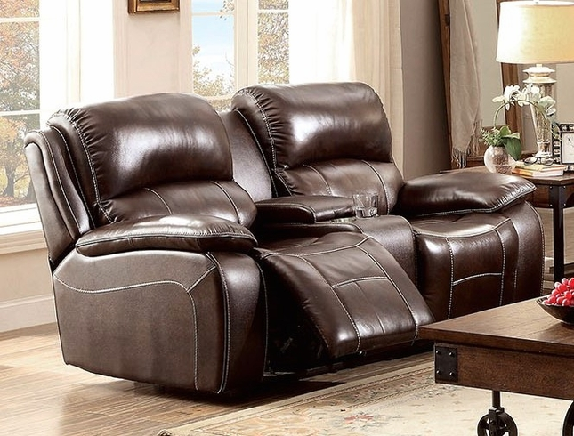 seth brown dual reclining loveseat in top grain leather