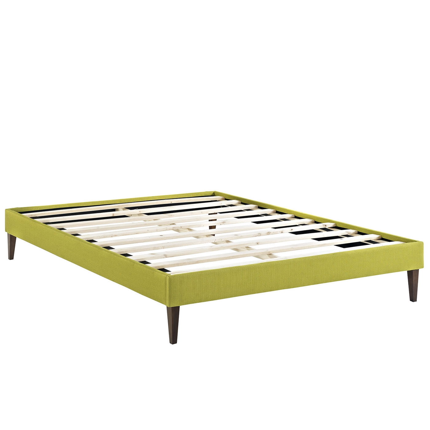 Sharon Modern King Fabric Platform Bed Frame With Square