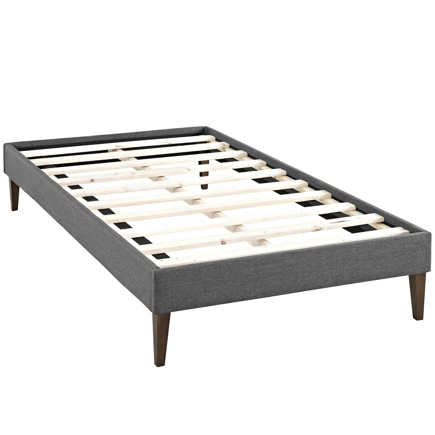 Sharon Modern Twin Fabric Platform Bed Frame With Square
