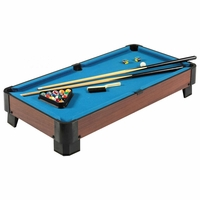 Sharp Shooter 40-in Portable Billiards Blue Table Top Pool Table w/Accessories