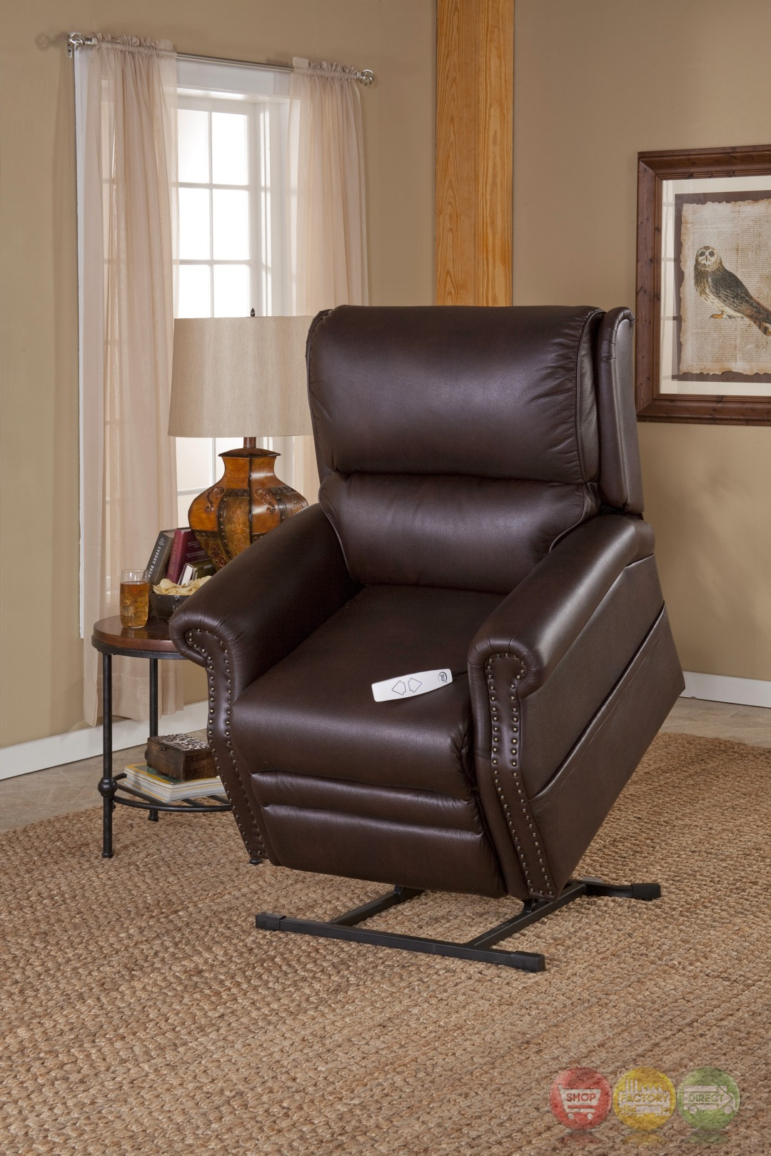 Sheffield Cocoa Brown Reclining Lift Chair With Usb Outlet