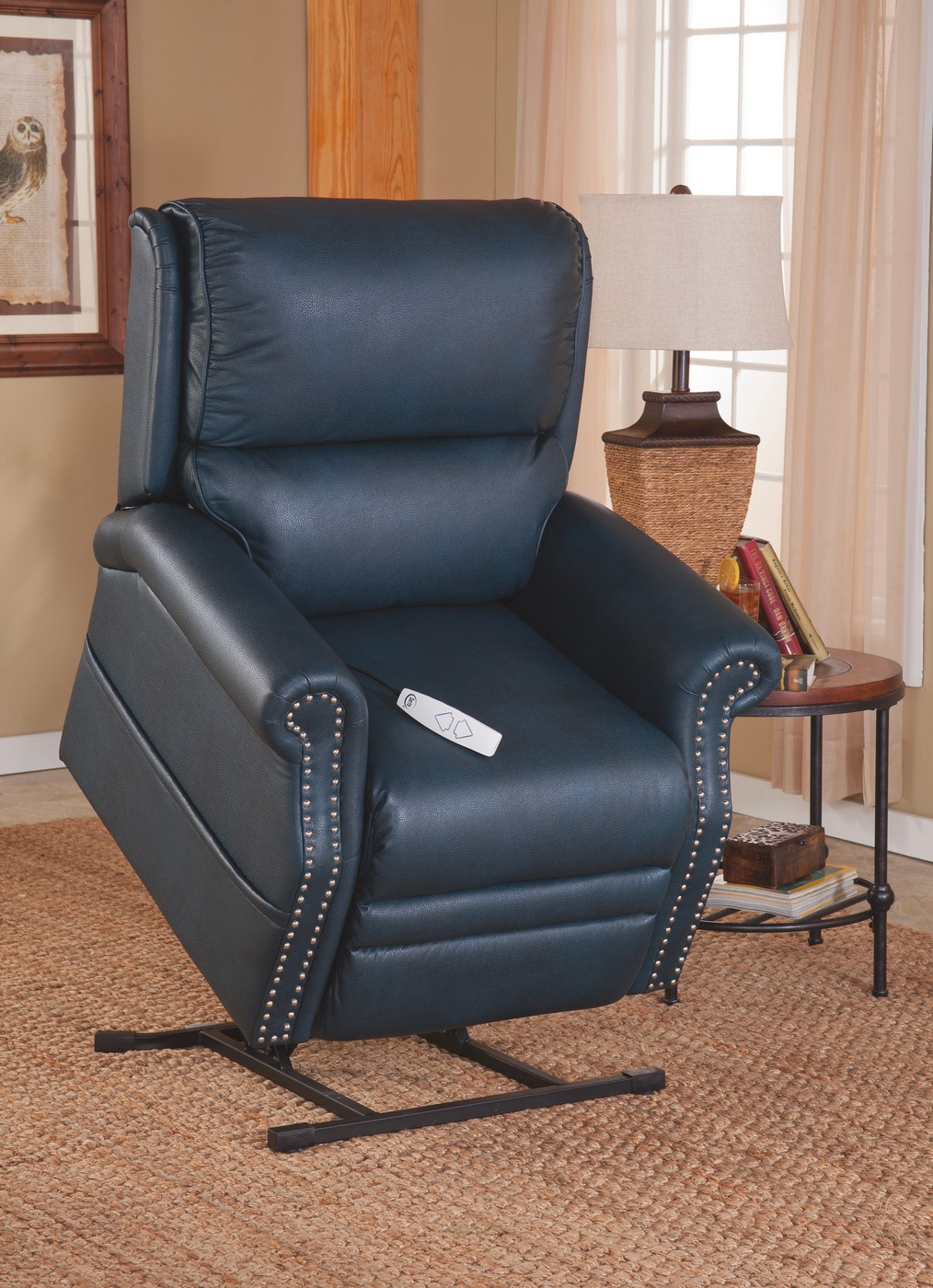 Serta Comfortlift Sheffield Kelp Blue Reclining Lift Chair