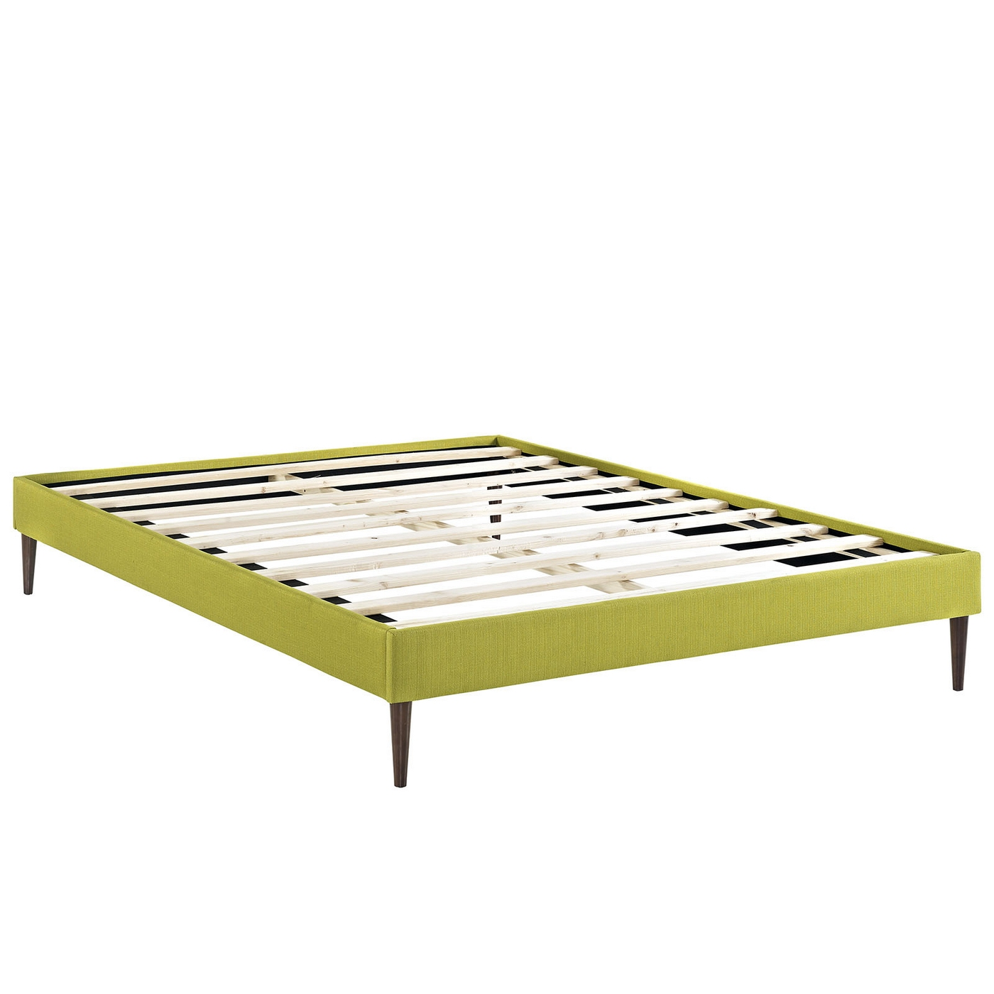 Sherry upholstered fabric full platform bed frame wheatgrass Full bed frames