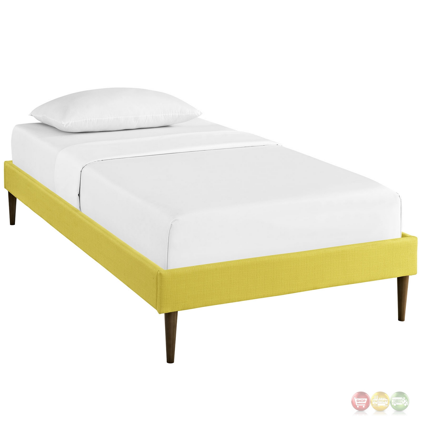 Sherry Upholstered Fabric Twin Platform Bed Frame Sunny