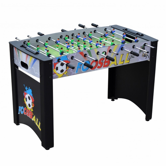 Carmelli Shootout 48-in Color Blast Foosball Soccer Table with Accessories