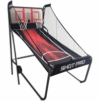 Carmelli Shot Pro Deluxe Indoor Electronic Basketball Game in Black & Red