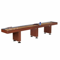 Challenger 14' Shuffleboard Game Table in Dark Cherry Finish
