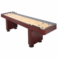 Shuffleboard 9 Foot Dark Cherry Finish Game Table