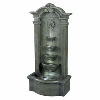 Sienna Outdoor Garden Patio Floor Water Fountain Stone Finish 53245MS