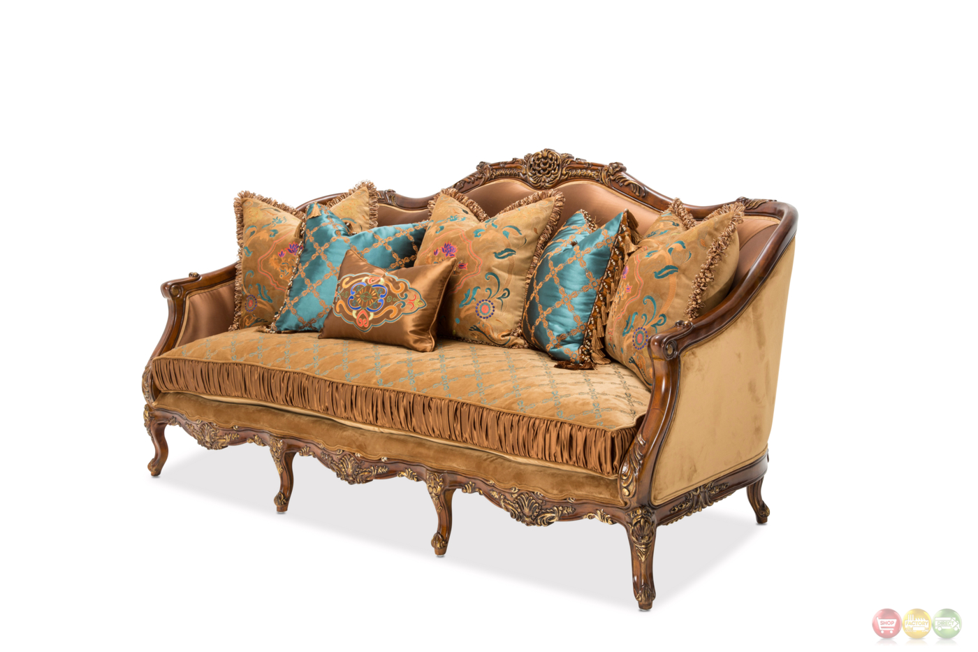 Sienna Victorian Embroidered Sofa Loveseat In