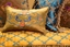 Sienna Victorian Embroidered Sofa & Loveseat in Butterscotch Blue