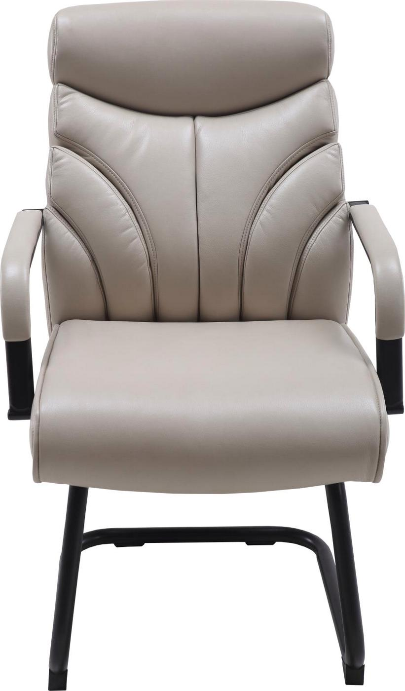 Signature Contemporary Office Guest Chair With Modern Back Style In Cream