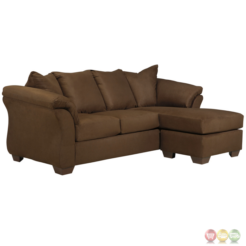 Signature design by ashley darcy sofa chaise in cafe for Ashley sofa chaise