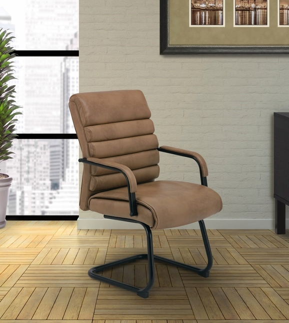 Signature Modern Contemporary Office Guest Chair w/ Ribbed ...