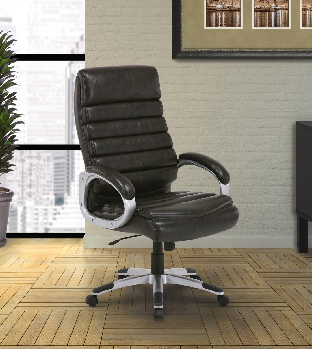 Signature Modern Contemporary Ribbed Back Office Desk