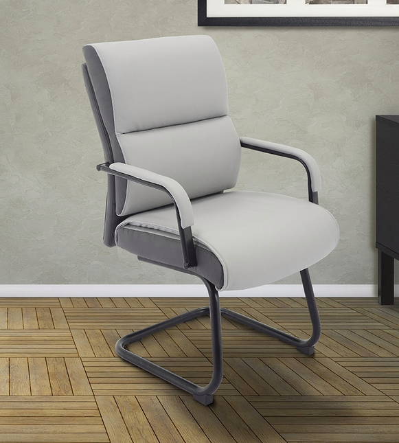 Signature Sleek Modern Office Guest Chair in Rocket Two-Tone ...