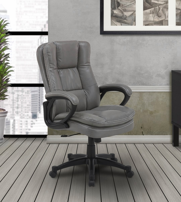 Signature Traditional Lift & Swivel Office Desk Chair in Fog Grey
