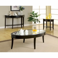 Silver Mist Contemporary Dark Walnut Accent Tables Set