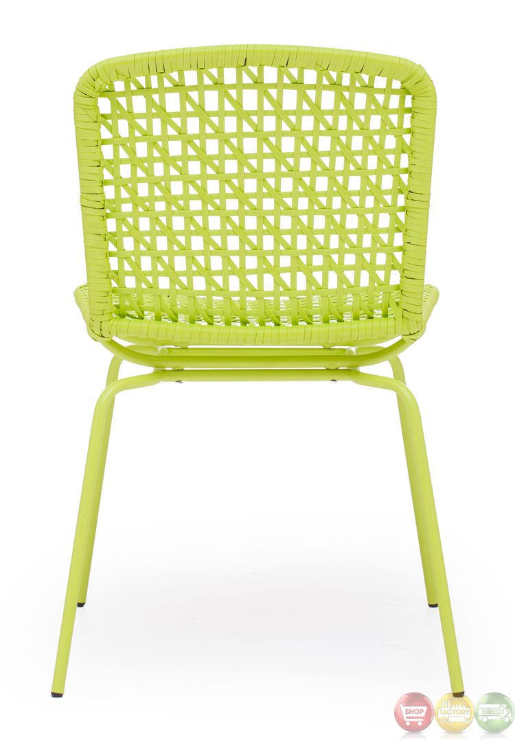 Silvermine Bay Lime Dining Chair Zuo Modern 703057 Modern
