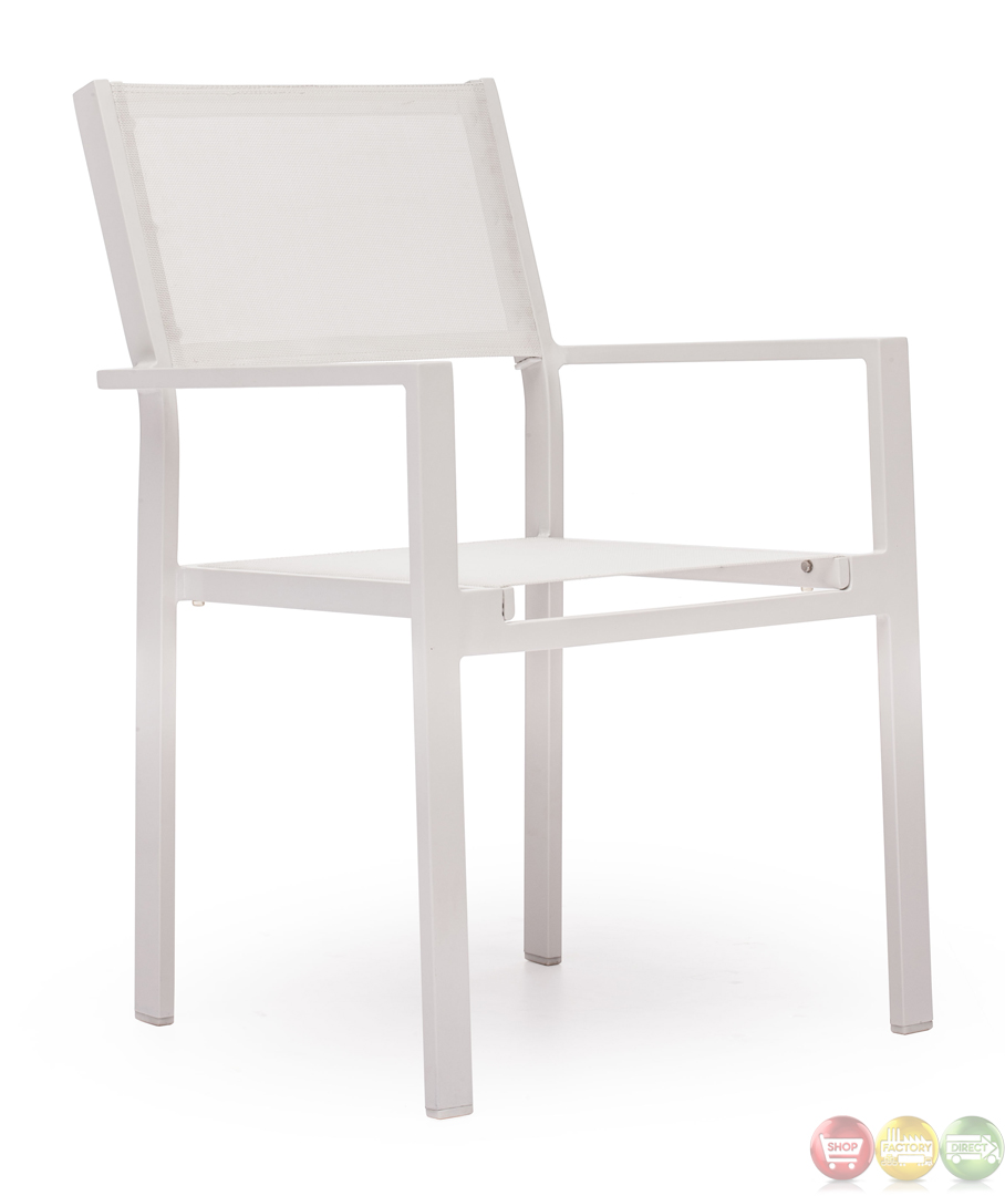 Silverstrand white dining chair zuo modern 703090 modern for Outdoor dining chairs modern