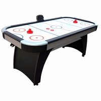 Carmelli Silverstreak 6-Ft Air Hockey Table with Electronic Scoring in Black