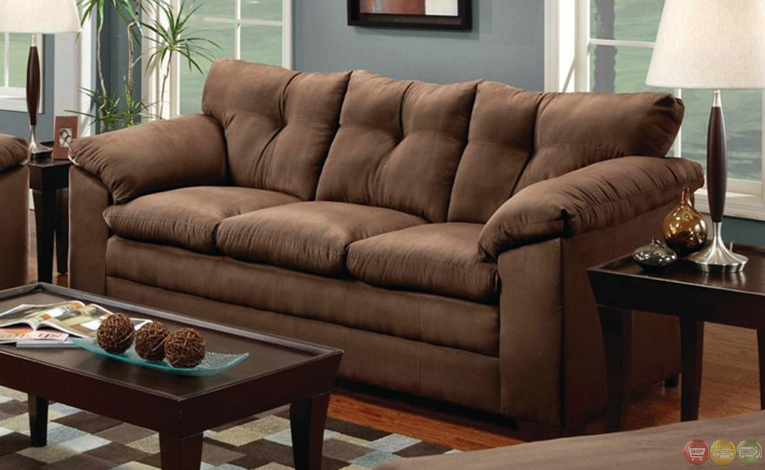 Brown microfiber sofa microfiber sofa and loveseat set Microfiber sofa and loveseat set