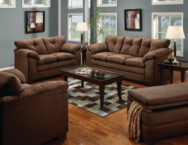 Brown Microfiber Sofa Microfiber Sofa And Loveseat Set