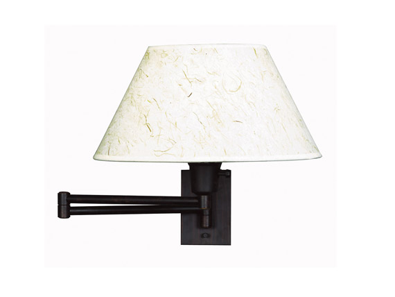 Simplicity Wall Swing Arm Lamp Bronze Finish
