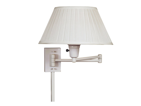 Simplicity Wall Swing Arm Lamp White Finish