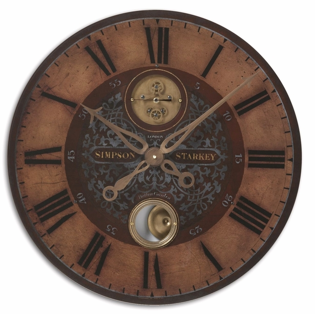 Simpson Starkey Transitional Brown Wall Clock  06038