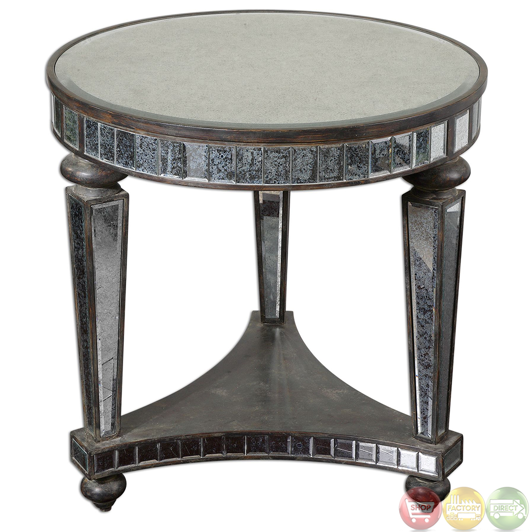 Sinley Contemporary Mirrored Accent Table 24235