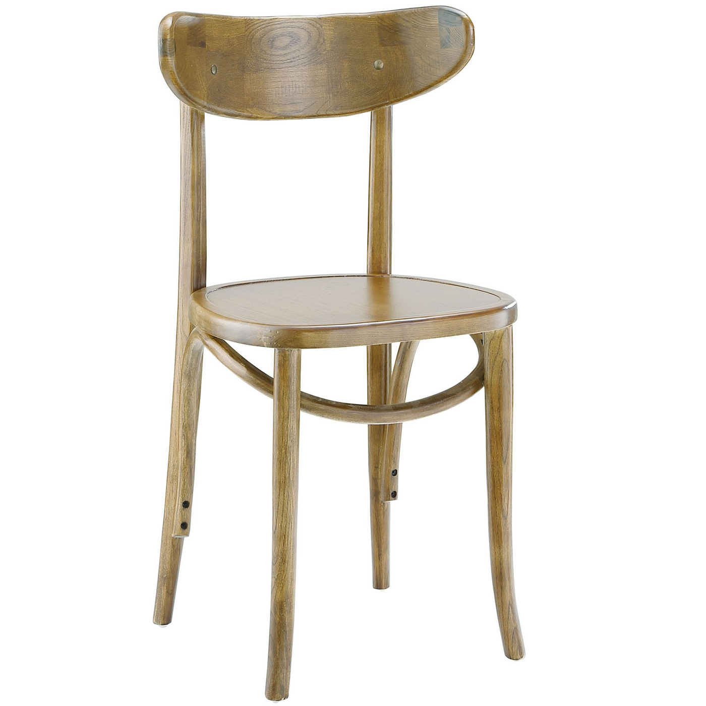 Skate contemporary solid wood dining side chair with for Natural wood dining chairs