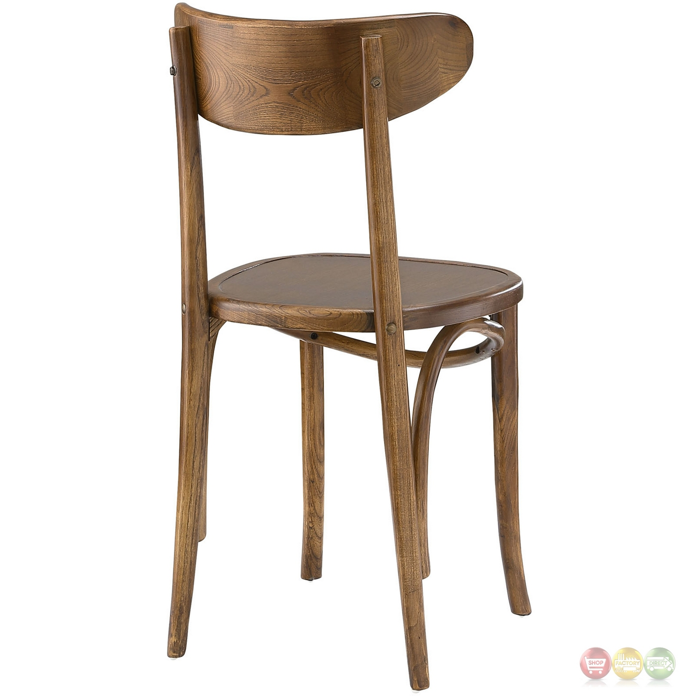 Skate contemporary solid wood dining side chair with for Skateboard chair plans