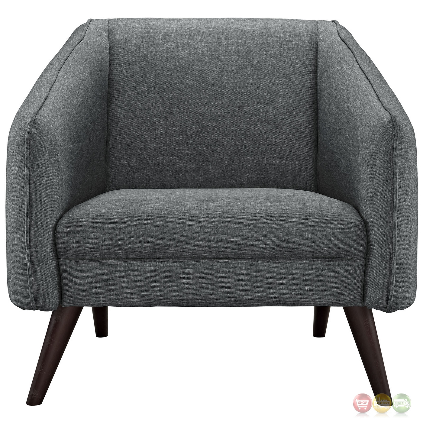 Mid-Century Modern Slide Upholstered Armchair With Wood ...