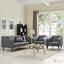 Mid-Century Modern Slide 3-pc Sofa & Armchairs Living Room Set, Gray