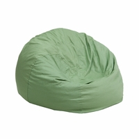 Small Solid Green Kids Bean Bag Chair