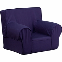Small Solid Navy Blue Kids Chair