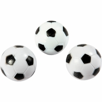 3-Pack 35mm Soccer Ball Style Black and White Replacement Foosballs