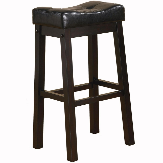 Sofie Set of 2 Dark Cherry Tone Transitional 29 Inch Bar Stools