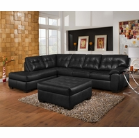 simmons reclining sofa. soho contemporary black bonded leather sectional left chaise simmons reclining sofa