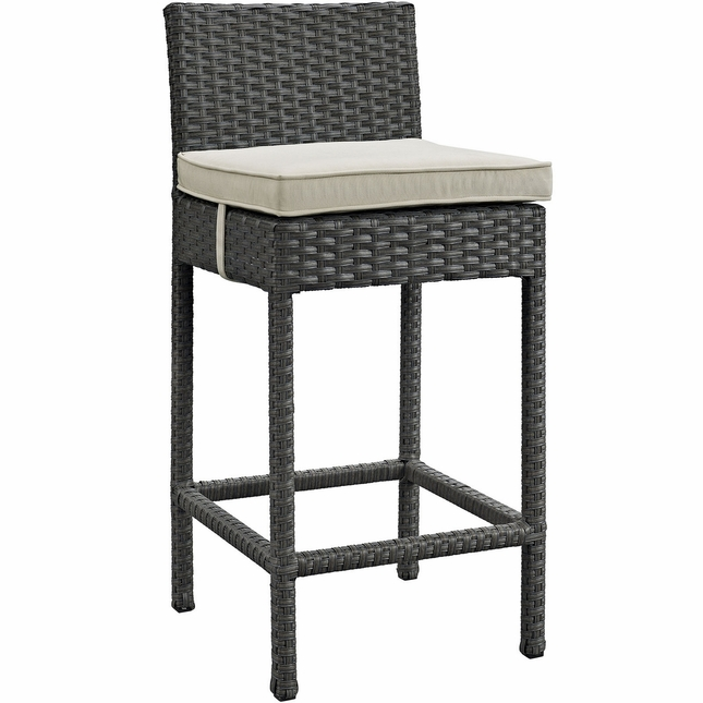 Phenomenal Sojourn Modern Outdoor Patio Rattan Sunbrella Bar Stool W Gmtry Best Dining Table And Chair Ideas Images Gmtryco