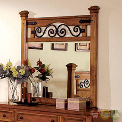exciting country style bedroom furniture | Sonoma Country American Oak Poster Bedroom Set with Rod ...
