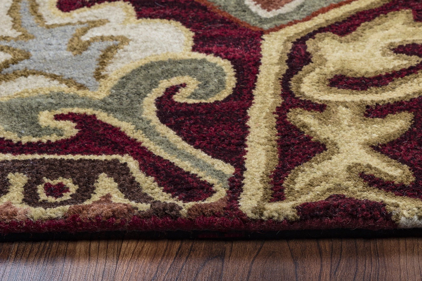 Southwest Tribal Plant Wool Area Rug In Red Blue Sage