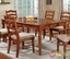 Spring Creek Country American Oak Formal Dining Set with Ladder Back Chairs