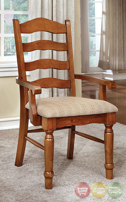 Country style dining room set oak formal