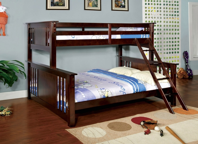 Spring Creek III Mission Dark Walnut Twin over Queen Bunk Bed
