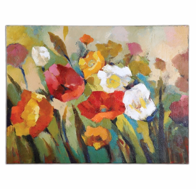 Spring Has Sprung Floral Hand Painted Art 34268