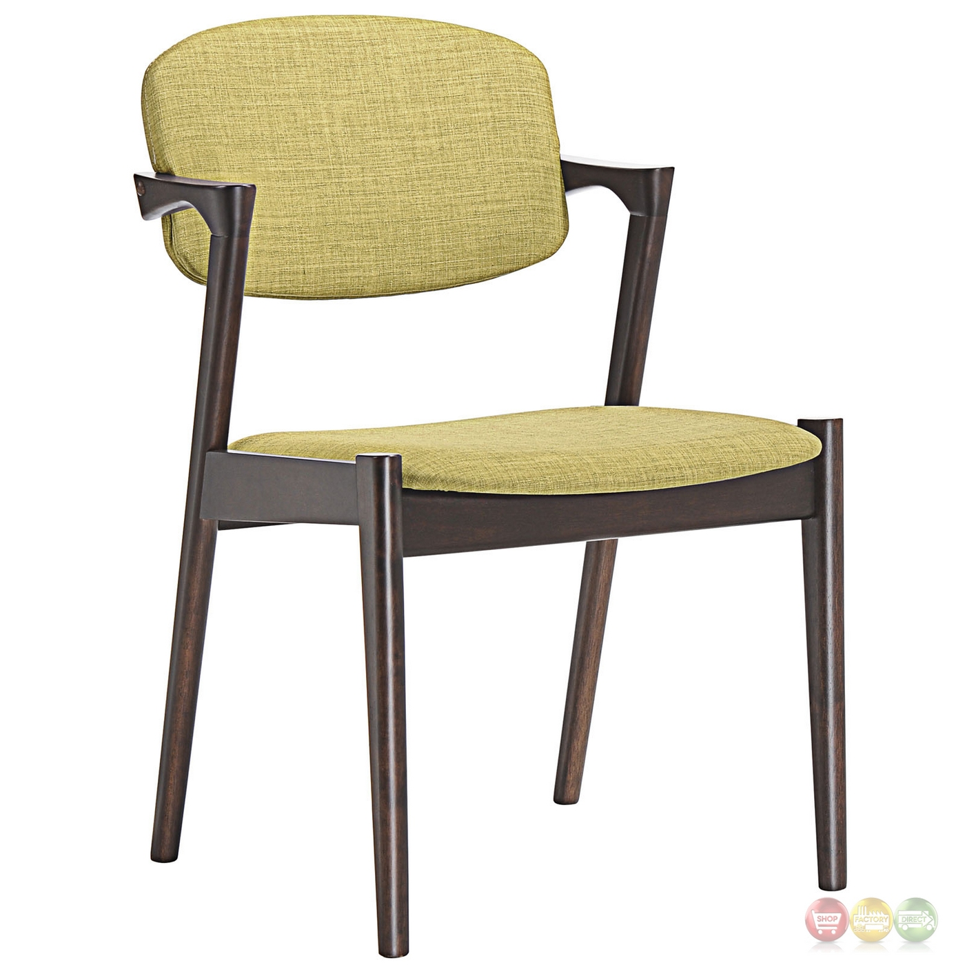 Spunk vintage modern upholstered dining armchair w wood for Armchair builder