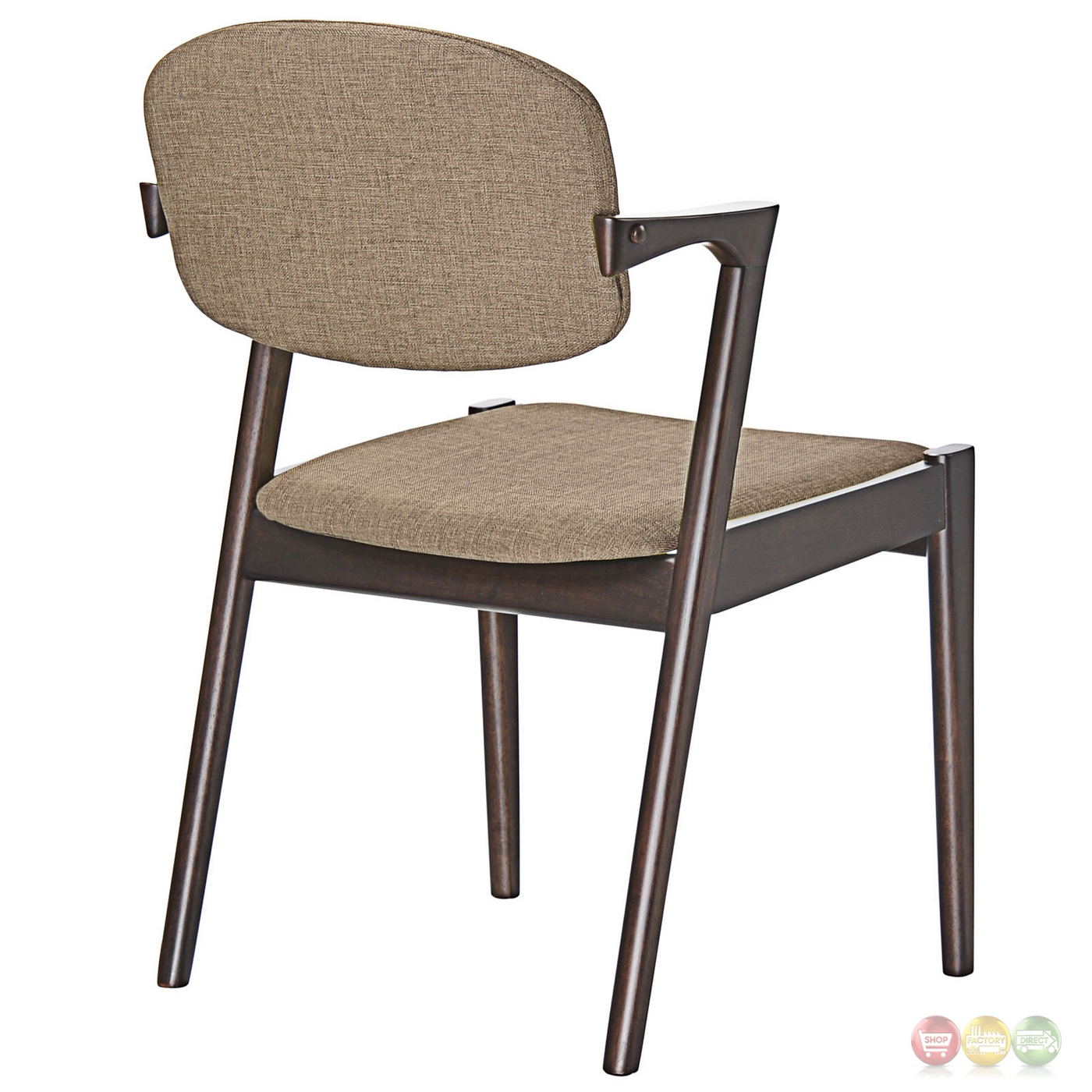 Spunk vintage modern upholstered dining armchair with wood for Armchair builder