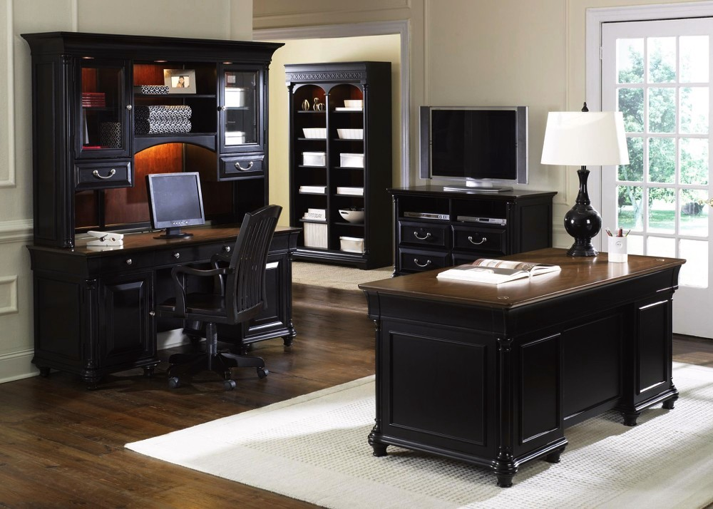executive office furniture set st ives traditional executive home office furniture desk set 15235